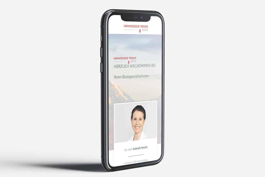 Webseite mobilfriendly Arztpraxis Bern