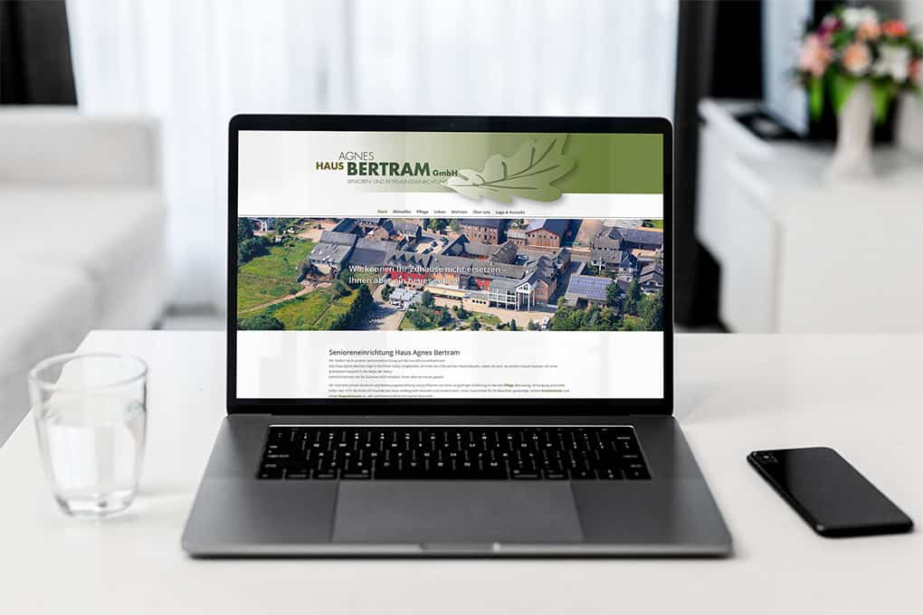 Seniorenheim Webseite Haus Agnes Bertram