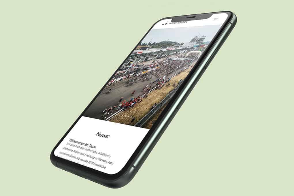 Webseite Radsport Breuer auf mobilem Endgerät